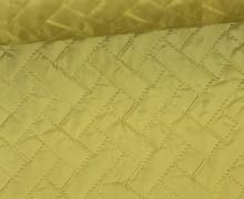 Steppstoff - Rechtecke - Matt glänzend - Geometric - Wattiert - Senfgelb