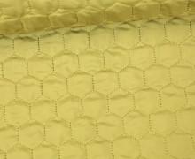 Steppstoff - Sechsecke - Matt glänzend - Geometric - Wattiert - Senfgelb