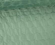 Steppstoff - Sechsecke - Matt glänzend - Geometric - Wattiert - Pastellgrün