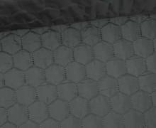 Steppstoff - Sechsecke - Matt glänzend - Geometric - Wattiert - Schwarz