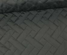Steppstoff - Rechtecke - Matt glänzend - Geometric - Wattiert - Schwarz