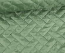 Steppstoff - Rechtecke - Matt glänzend - Geometric - Wattiert - Pastellgrün