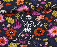 Jersey - Skeletons and Flowers - Halloween - schwarzblau