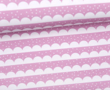 Sommersweat - Bio Qualität - Kombistoff - Safarifreunde - Elefantenfüßchen - rosa - LaLeLoup - abby and me