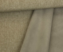 Softshell - Fleece - Uni - Melange - Braun