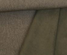 Softshell - Fleece - Uni - Melange - Dunkelbraun
