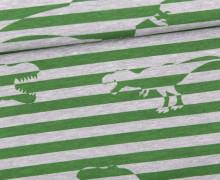 Sommersweat - Tyrannosaurus-Rawr - Dinosaurier - Streifen - Grün - grau - meliert - Abby and Me