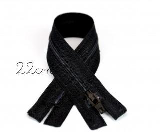1x22cm Polyesterreißverschluss - Nicht Teilbar - Hochwertig - Opti - Schwarz (0000)