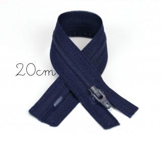 1x20cm Polyesterreißverschluss - Nicht Teilbar - Hochwertig - Opti - Schwarzblau (0210)