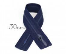 1x30cm Polyesterreißverschluss - Nicht Teilbar - Hochwertig - Opti - Schwarzblau (0210)