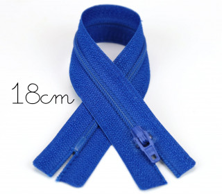 1x18cm Polyesterreißverschluss - Nicht Teilbar - Hochwertig - Opti - Royalblau (0215)