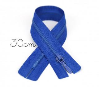 1x30cm Polyesterreißverschluss - Nicht Teilbar - Hochwertig - Opti - Royalblau (0215)