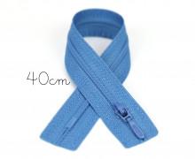 1x40cm Polyesterreißverschluss - Nicht Teilbar - Hochwertig - Opti - Taubenblau (0235)