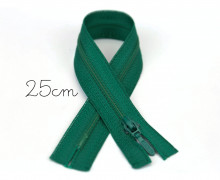 1x25cm Polyesterreißverschluss - Nicht Teilbar - Hochwertig - Opti - Grün (0433)