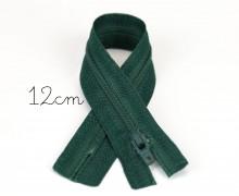 1x12cm Polyesterreißverschluss - Nicht Teilbar - Hochwertig - Opti - Tannengrün (0461)