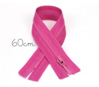 1x60cm Polyesterreißverschluss - Nicht Teilbar - Hochwertig - Opti - Pink (0786)