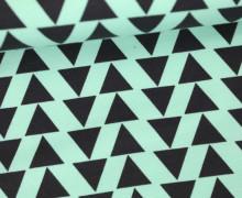 Leichter Kuschelsweat - Dreiecke - Tillisy - Mint
