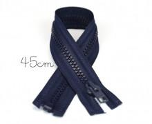1x45cm Reißverschluss - Teilbar - Hochwertig - Opti - Schwarzblau (0210)