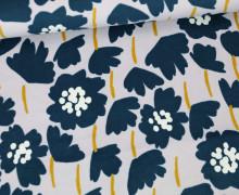 Baumwollsamt - Velvet - Blumen - Elastisch - Tillisy - Pastell Lavendel