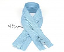 1x45cm Reißverschluss - Teilbar - Hochwertig - Opti - Hellblau (0259)