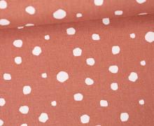 Canvas - Punkte - Grafisch - Tillisy - Pastellrot