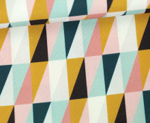 Canvas - Bunte Dreiecke - Grafisch - Tillisy - Weiß/Rosa