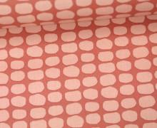 Beschichtete Baumwolle - Flecken - Grafisch - Tillisy - Pastellrot