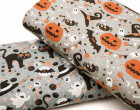 Jersey - GOTS - Pumpkin Party - Halloween - Grau meliert - abby and me