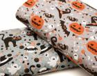 Jersey - GOTS - Spooky Friends - Halloween - Betongrau meliert - abby and me