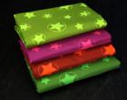 Softshell - Fleece - Sterne - Stars - Neon - Matt glänzend - Grün/Neongrün