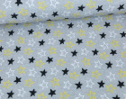 Softshell - Fleece - Little Stars - Sterne - Grau meliert