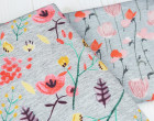Softshell - Fleece - Aquarellblumen - Flower - Grau Meliert