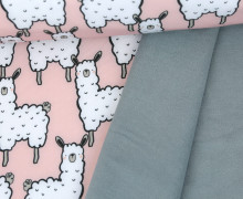 Softshell - Fleece - Sweet Alpaka - Lama - Blassrosa