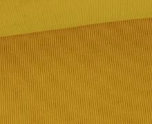 Stretchcord - Feincord - elastischer Babycord - Uni - Senfgelb
