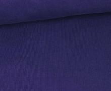 Stretchcord - Feincord - elastischer Babycord - Uni - Royalblau Dunkel