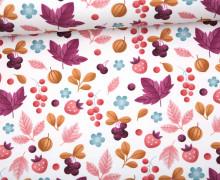 Sommersweat - Bio Qualität - Herbstfrüchte - Weiß - abby and me