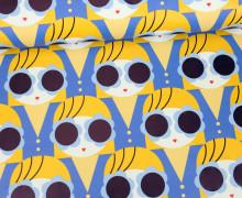 Leichter Regenjacken Stoff - Regencape - Miss Sunshine - Mädchen -  Blau/Gelb