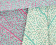 Jacquard Stoff - Double Face - Pizzo - Grafisch - Amor de Tela - Mintblau