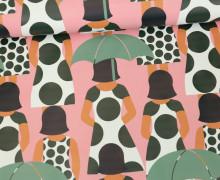 Leichter Regenjacken Stoff - Regencape - Madame Umbrella - Regenschirm - Rosa