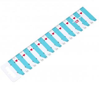 Handmaß - Linienal - Love - 21cm - Weiß/Blau