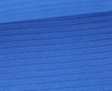 Bündchen mit Struktur - Breite Streifen - Uni - Strickschlauch - Blau