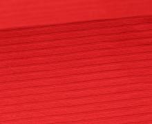 Bündchen mit Struktur - Breite Streifen - Uni - Strickschlauch - Rot