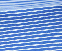 Bündchen mit Struktur - Breite Streifen - Strickschlauch - Blau