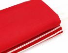 Bündchen mit Struktur - Breite Streifen - Strickschlauch - Rot