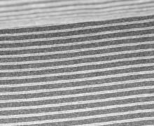 Bündchen mit Struktur - Breite Streifen - Strickschlauch - Dunkelgrau meliert