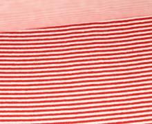 Glattes Bündchen - Schmale Streifen - Strickschlauch - Rot