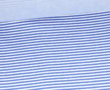 Glattes Bündchen - Schmale Streifen - Strickschlauch - Blau