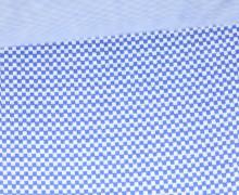 Glattes Bündchen - Schachbrett - Strickschlauch - Blau