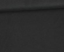 Organic Cotton Interlock Baumwolljersey - Uni - 145cm - Schwarz