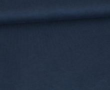 Organic Cotton Interlock Baumwolljersey - Uni - 145cm - Schwarzblau